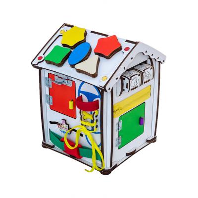 Бізіборд будиночок 24х24х30 з підсвічуванням B004