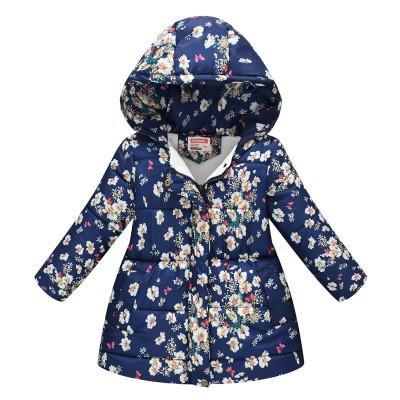 Куртка для дівчинки демісезонна Small flowers ❆ Осінь-Зима